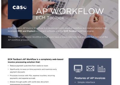 AP Workflow with ECM Toolbox