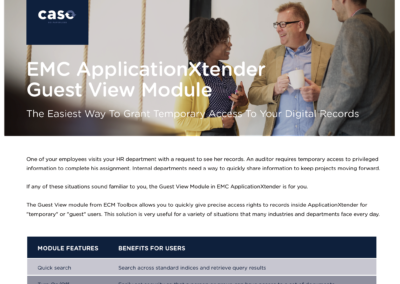 ApplicationXtender Guest View Module