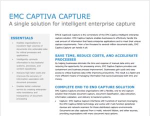 Captiva Capture, EMC