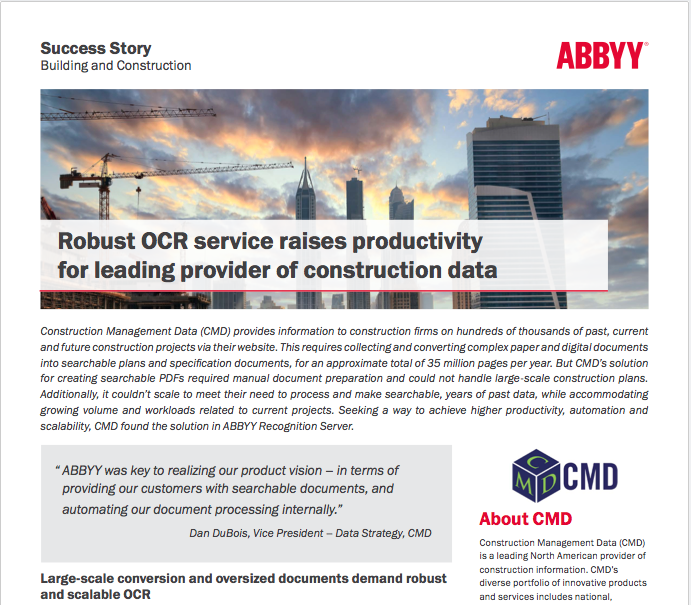 ABBYY CMD Case Study