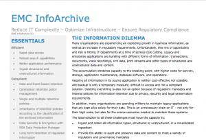 EMC InfoArchive