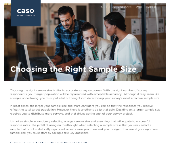 White Paper: Choosing the Right Sample Size