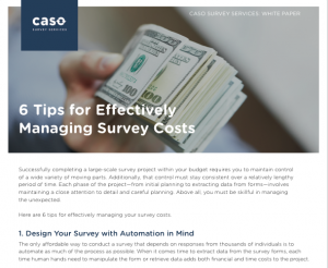 Managing Survey Costs
