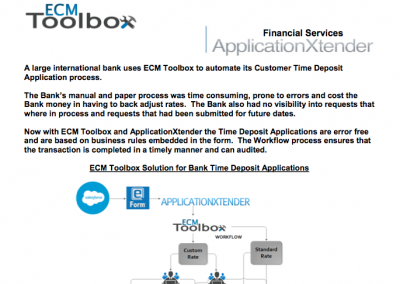 ECM Toolbox Workflow