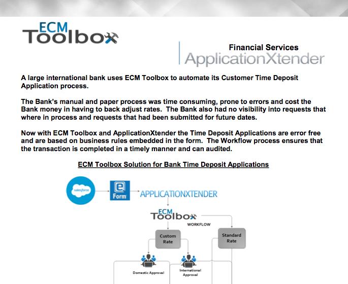 ECM Toolbox Workflow