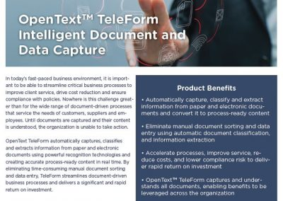 Open Text Teleform