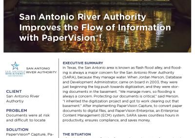 San Antonio River Authority Case Study