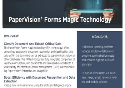 PaperVision Capture – Forms Magic