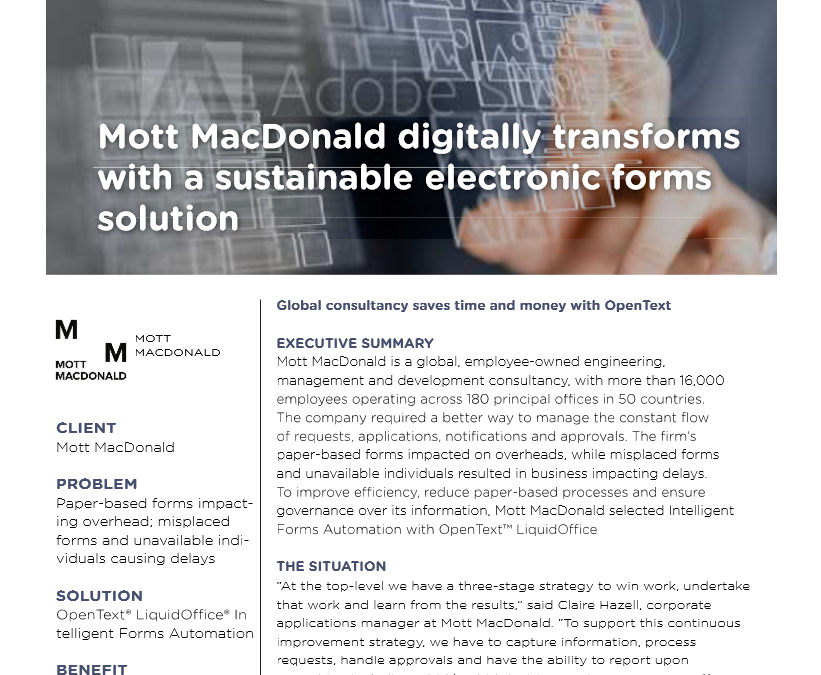 Intelligent Forms Mott MacDonald Case Study
