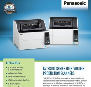 Panasonic KV-S8100 Series Spec Sheet