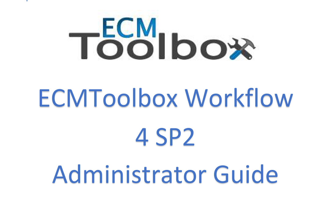 ECM Toolbox Admin Guide V4 SP2